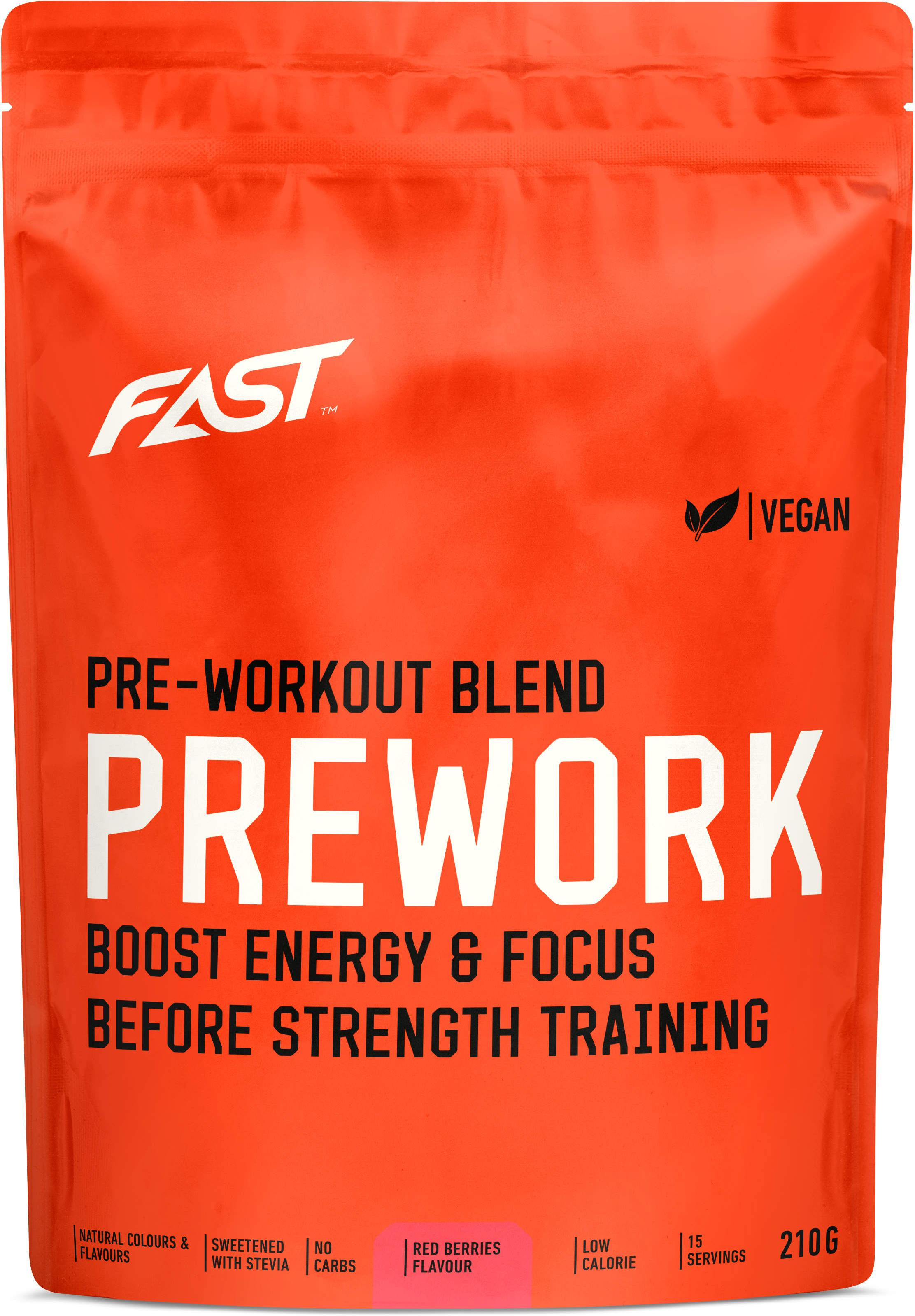 Prášok FAST FAST PRE-WORKOUT 210G RED BERRIES
