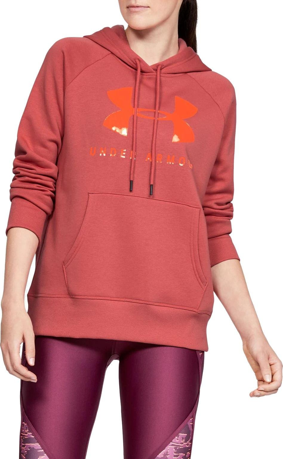 Mikina s kapucňou Under Armour RIVAL FLEECE SPORTSTYLE GRAPHIC HOODIE
