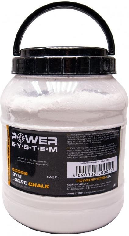 Magnézium Power System POWER SYSTEM-GYM LOOSE CHALK-500G