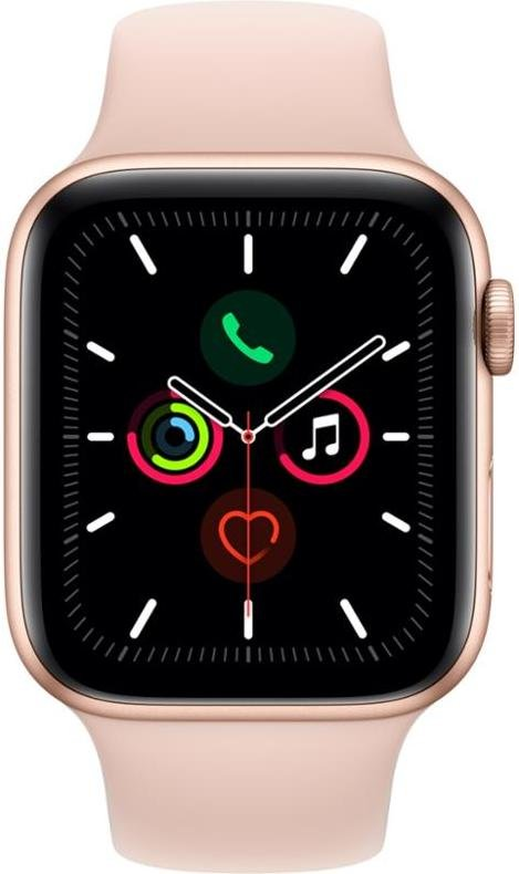 Hodinky Apple Apple Watch Series 5   GPS, 44mm Gold Aluminium Case with Pink Sand